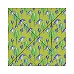 Tropical Floral Pattern Acrylic Tangram Puzzle (6  x 6 ) Front