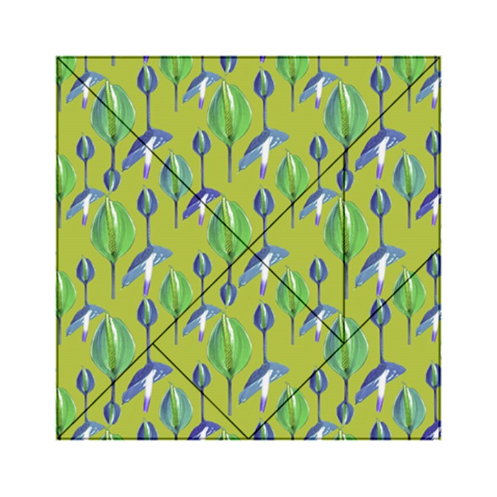 Tropical Floral Pattern Acrylic Tangram Puzzle (6  x 6 )