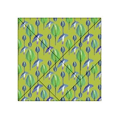 Tropical Floral Pattern Acrylic Tangram Puzzle (4  x 4 )