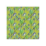 Tropical Floral Pattern Acrylic Tangram Puzzle (4  x 4 ) Front
