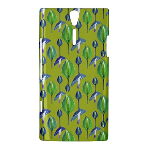 Tropical Floral Pattern Sony Xperia S