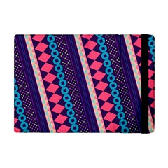 Purple And Pink Retro Geometric Pattern Apple iPad Mini Flip Case