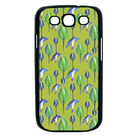 Tropical Floral Pattern Samsung Galaxy S III Case (Black)