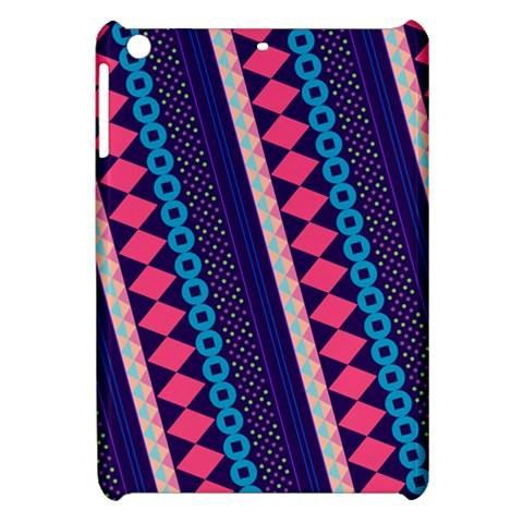 Purple And Pink Retro Geometric Pattern Apple iPad Mini Hardshell Case