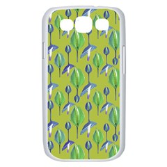 Tropical Floral Pattern Samsung Galaxy S III Case (White)