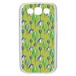 Tropical Floral Pattern Samsung Galaxy S III Case (White) Front