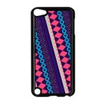 Purple And Pink Retro Geometric Pattern Apple iPod Touch 5 Case (Black) Front