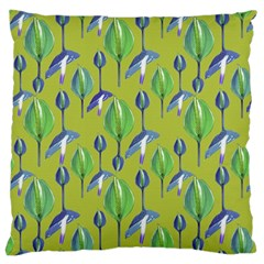 Tropical Floral Pattern Large Cushion Case (one Side)