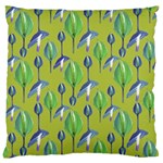 Tropical Floral Pattern Large Cushion Case (One Side) Front