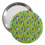 Tropical Floral Pattern 3  Handbag Mirrors Front
