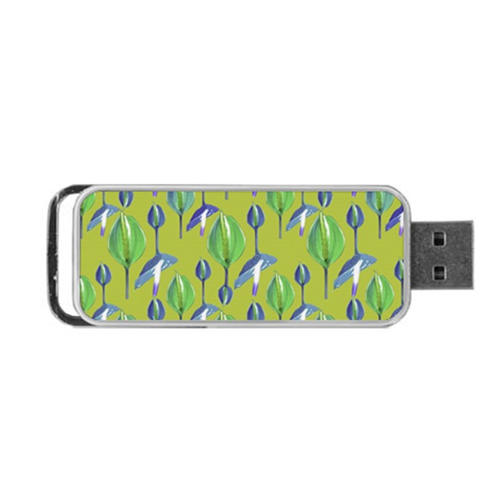 Tropical Floral Pattern Portable USB Flash (One Side)