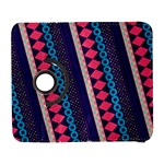 Purple And Pink Retro Geometric Pattern Samsung Galaxy S  III Flip 360 Case Front