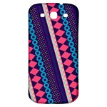 Purple And Pink Retro Geometric Pattern Samsung Galaxy S3 S III Classic Hardshell Back Case Front