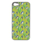 Tropical Floral Pattern Apple iPhone 5 Case (Silver) Front