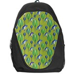 Tropical Floral Pattern Backpack Bag Front