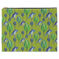 Tropical Floral Pattern Cosmetic Bag (xxxl)