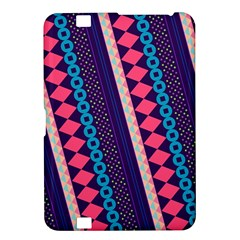 Purple And Pink Retro Geometric Pattern Kindle Fire Hd 8 9