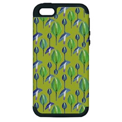 Tropical Floral Pattern Apple iPhone 5 Hardshell Case (PC+Silicone)
