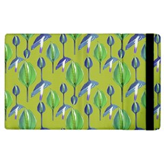 Tropical Floral Pattern Apple iPad 2 Flip Case