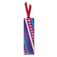 Purple And Pink Retro Geometric Pattern Small Book Marks