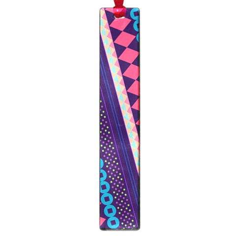 Purple And Pink Retro Geometric Pattern Large Book Marks