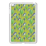 Tropical Floral Pattern Apple iPad Mini Case (White) Front