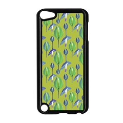 Tropical Floral Pattern Apple iPod Touch 5 Case (Black)