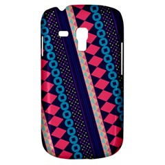 Purple And Pink Retro Geometric Pattern Samsung Galaxy S3 Mini I8190 Hardshell Case
