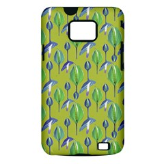 Tropical Floral Pattern Samsung Galaxy S II i9100 Hardshell Case (PC+Silicone)