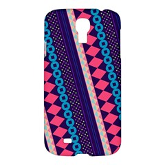 Purple And Pink Retro Geometric Pattern Samsung Galaxy S4 I9500/i9505 Hardshell Case