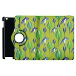 Tropical Floral Pattern Apple iPad 2 Flip 360 Case Front