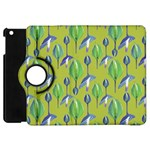 Tropical Floral Pattern Apple iPad Mini Flip 360 Case Front