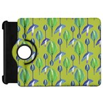 Tropical Floral Pattern Kindle Fire HD Flip 360 Case Front