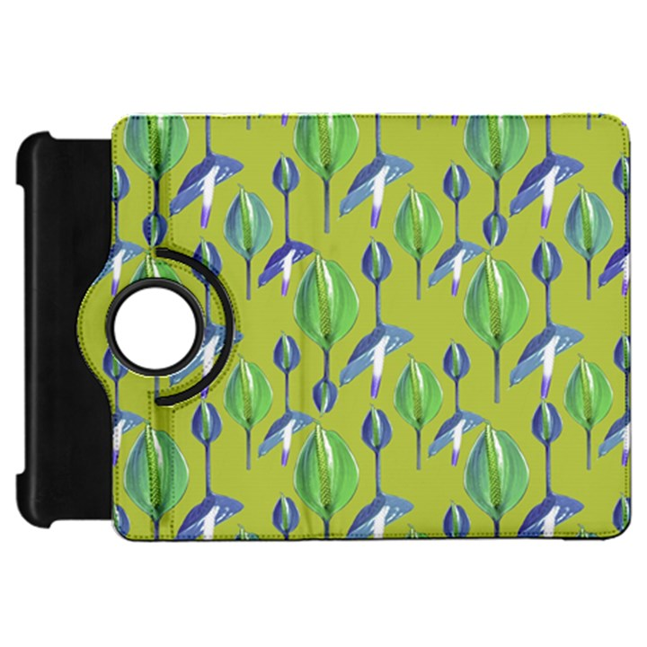 Tropical Floral Pattern Kindle Fire HD Flip 360 Case