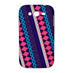Purple And Pink Retro Geometric Pattern Samsung Galaxy Grand DUOS I9082 Hardshell Case