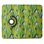 Tropical Floral Pattern Samsung Galaxy Note II Flip 360 Case Front