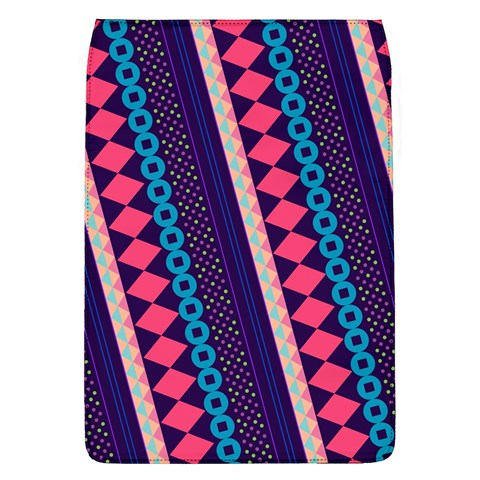 Purple And Pink Retro Geometric Pattern Flap Covers (L)