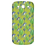 Tropical Floral Pattern Samsung Galaxy S3 S III Classic Hardshell Back Case Front