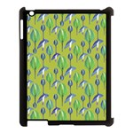 Tropical Floral Pattern Apple iPad 3/4 Case (Black) Front