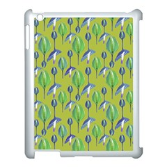 Tropical Floral Pattern Apple Ipad 3/4 Case (white)