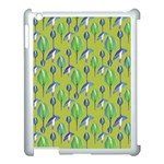 Tropical Floral Pattern Apple iPad 3/4 Case (White) Front