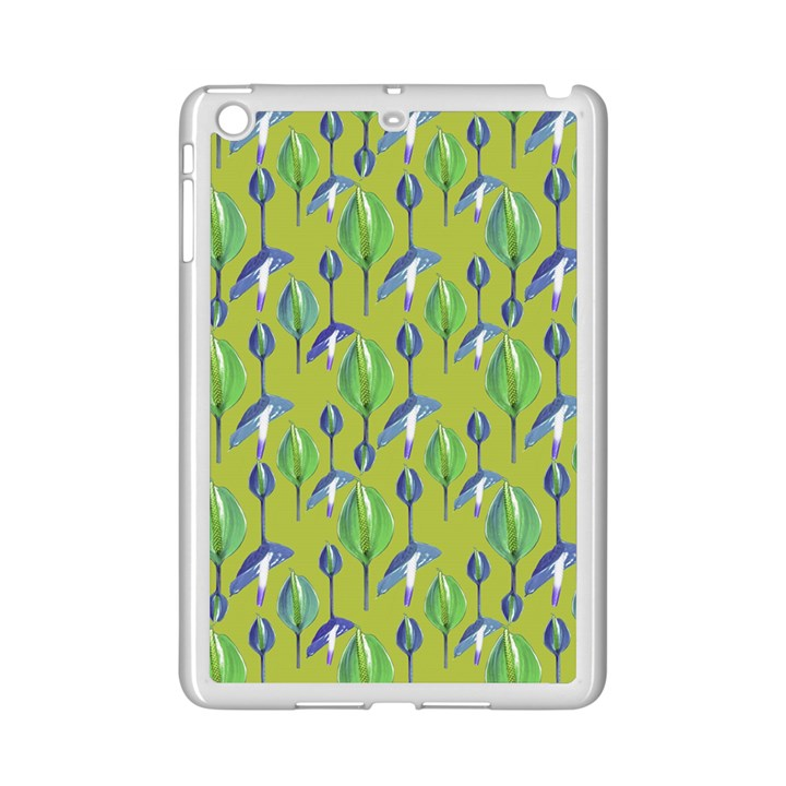 Tropical Floral Pattern iPad Mini 2 Enamel Coated Cases