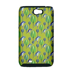 Tropical Floral Pattern Samsung Galaxy Note 2 Hardshell Case (PC+Silicone)