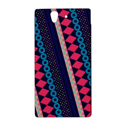 Purple And Pink Retro Geometric Pattern Sony Xperia Z