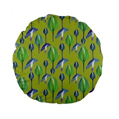 Tropical Floral Pattern Standard 15  Premium Round Cushions