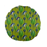 Tropical Floral Pattern Standard 15  Premium Round Cushions Back
