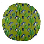 Tropical Floral Pattern Large 18  Premium Round Cushions Front