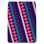 Purple And Pink Retro Geometric Pattern Flap Covers (S)  Front