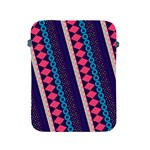Purple And Pink Retro Geometric Pattern Apple iPad 2/3/4 Protective Soft Cases Front