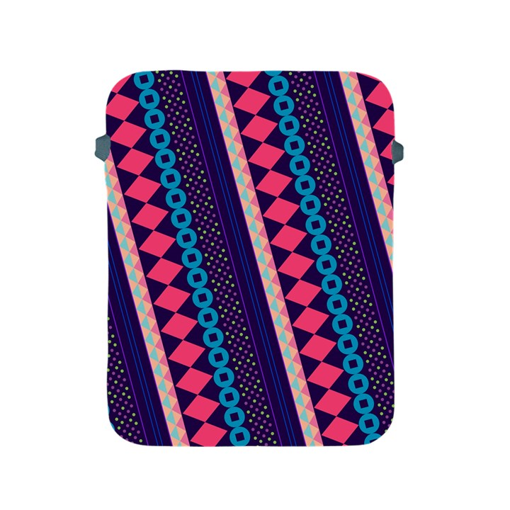 Purple And Pink Retro Geometric Pattern Apple iPad 2/3/4 Protective Soft Cases
